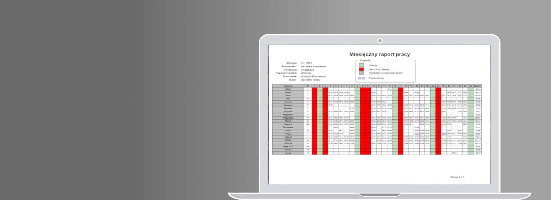 BioRCP Rejestracja czasu pracy